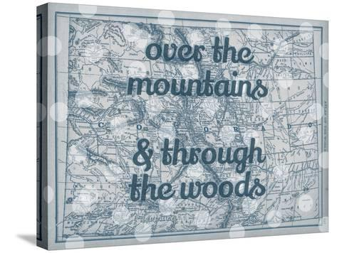 Over the Mountains & Through the Woods - 1890, United States, Colorado, North America, Colorado Map--Stretched Canvas Print