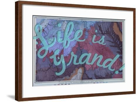 Life is Grand - 1882, Grand Canyon Map - The Mesozoic Terraces--Framed Art Print