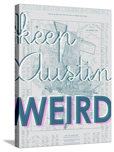 Keep Austin Weird - 1939, Austin Chamber of Commerce, Texas, United States Map--Stretched Canvas Print