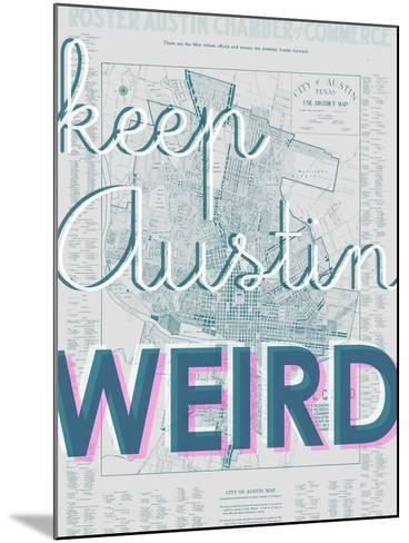 Keep Austin Weird - 1939, Austin Chamber of Commerce, Texas, United States Map--Mounted Giclee Print
