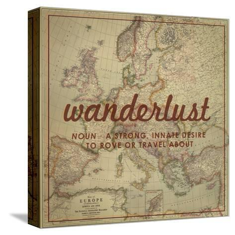 Wanderlust - 1915 Europe Map with Africa and Asia Map-National Geographic Maps-Stretched Canvas Print