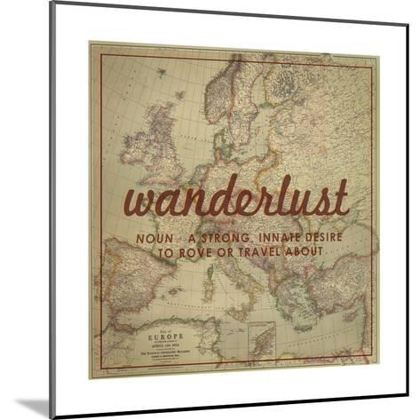 Wanderlust - 1915 Europe Map with Africa and Asia Map-National Geographic Maps-Mounted Giclee Print
