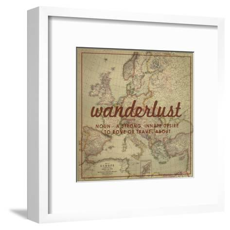 Wanderlust - 1915 Europe Map with Africa and Asia Map-National Geographic Maps-Framed Art Print