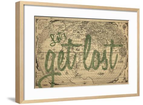 Let's Get Lost - 1562, World Map--Framed Art Print