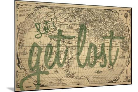 Let's Get Lost - 1562, World Map--Mounted Giclee Print
