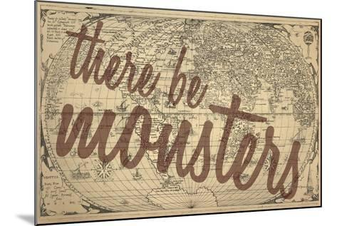 There Be Monsters - 1562, World Map--Mounted Giclee Print