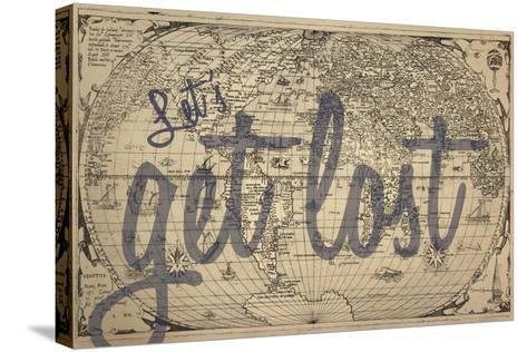 Let's Get Lost - 1562, World Map--Stretched Canvas Print