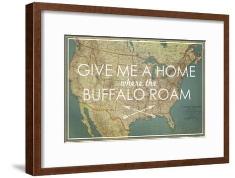 Give me a Home where the Buffalo Roam - 1933 United States of America Map-National Geographic Maps-Framed Art Print