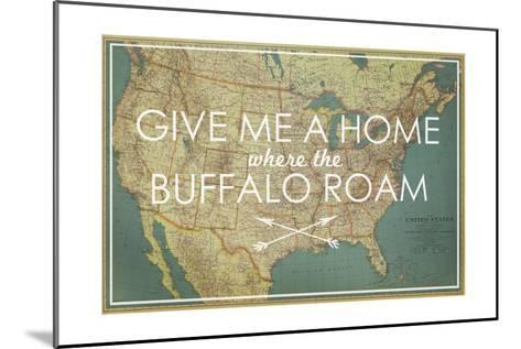 Give me a Home where the Buffalo Roam - 1933 United States of America Map-National Geographic Maps-Mounted Giclee Print