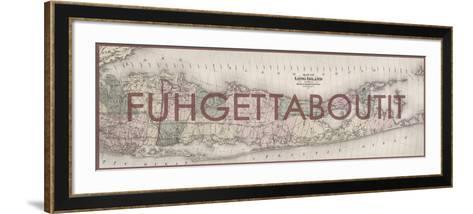 FUHGETTABOUTIT - 1873, Long Island Map, New York, United States Map--Framed Art Print