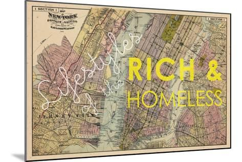 Lifestyles of the Rich & Homeless - 1891, New York, Brooklyn, & Jersey City Map--Mounted Giclee Print
