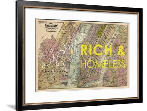 Lifestyles of the Rich & Homeless - 1891, New York, Brooklyn, & Jersey City Map--Framed Art Print