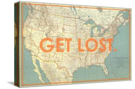 Get Lost - 1933 United States of America Map-National Geographic Maps-Stretched Canvas Print