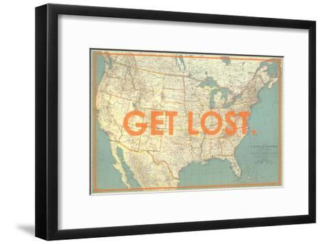 Get Lost - 1933 United States of America Map-National Geographic Maps-Framed Art Print