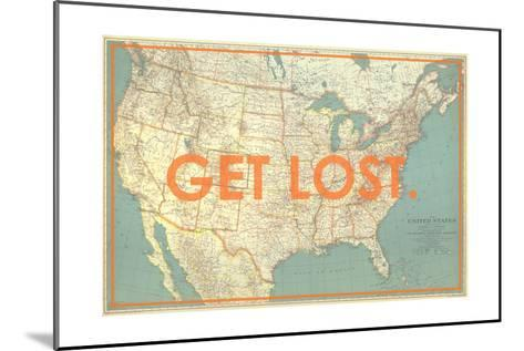 Get Lost - 1933 United States of America Map-National Geographic Maps-Mounted Giclee Print