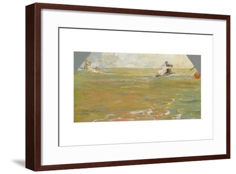 Sea Gods in the Ocean, 1884-85-Max Klinger-Framed Art Print
