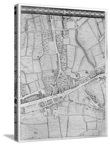 A Map of Mile End, London, 1746-John Rocque-Stretched Canvas Print