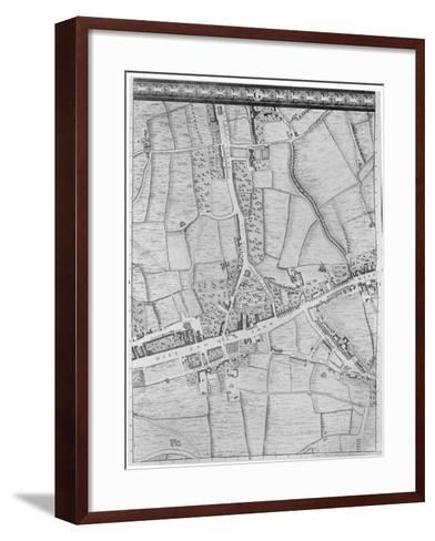A Map of Mile End, London, 1746-John Rocque-Framed Art Print