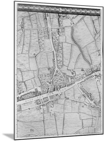 A Map of Mile End, London, 1746-John Rocque-Mounted Giclee Print