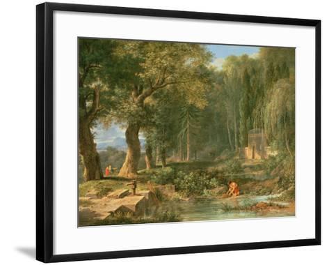 Classical Landscape-Pierre Henri de Valenciennes-Framed Art Print