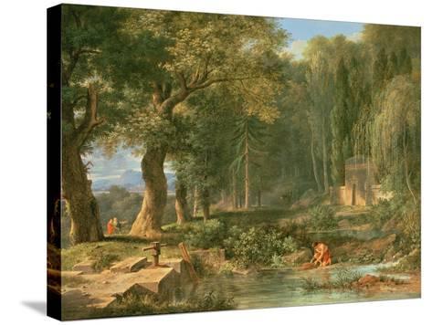 Classical Landscape-Pierre Henri de Valenciennes-Stretched Canvas Print