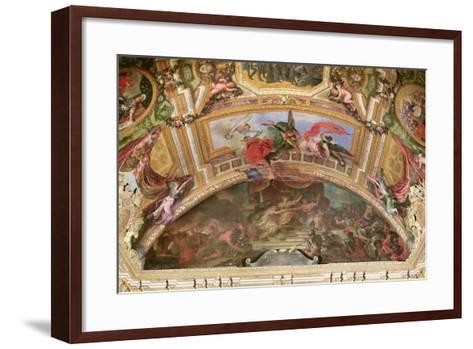 The Alliance of Germany and Spain with Holland, 1672, Ceiling Painting from the Galerie Des Glaces-Charles Le Brun-Framed Art Print