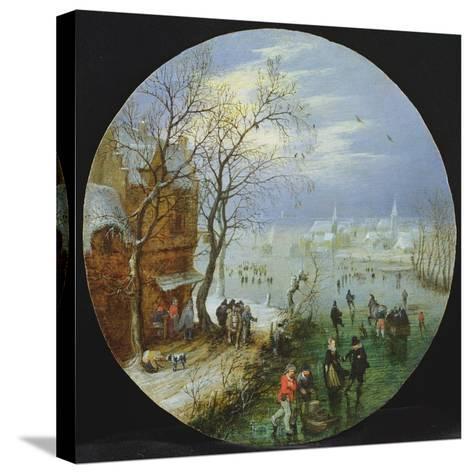 A Winter Skating Scene-Adriaen Pietersz van de Venne-Stretched Canvas Print