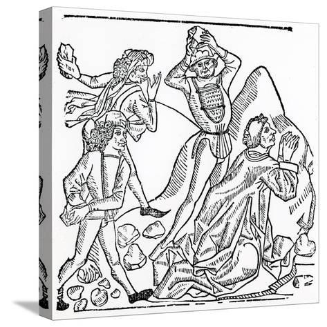The Stoning of St. Stephen--Stretched Canvas Print