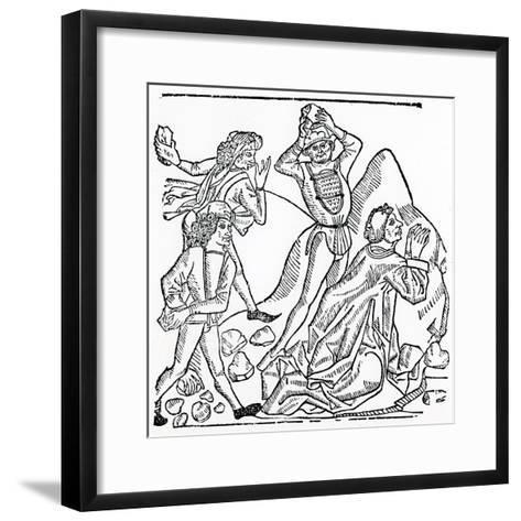 The Stoning of St. Stephen--Framed Art Print