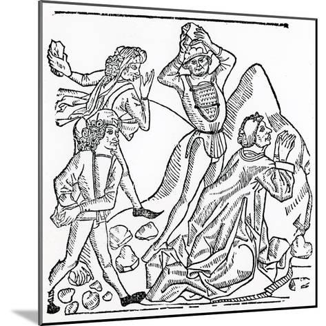 The Stoning of St. Stephen--Mounted Giclee Print