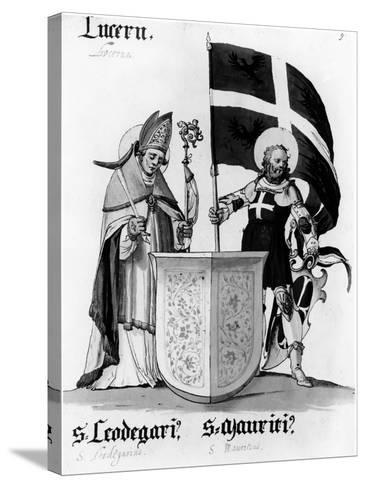 Saints Leodegarius and Mauritius--Stretched Canvas Print