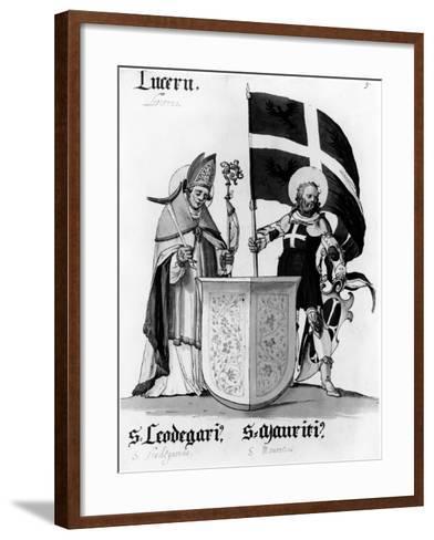 Saints Leodegarius and Mauritius--Framed Art Print