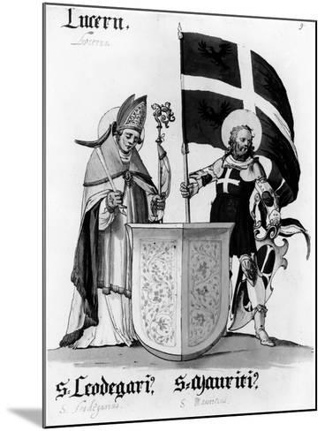 Saints Leodegarius and Mauritius--Mounted Giclee Print