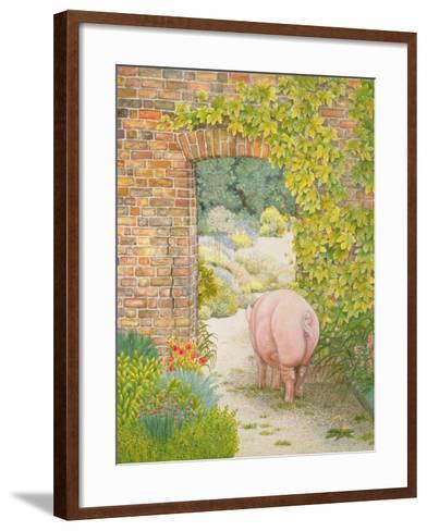The Convent Garden Pig-Ditz-Framed Art Print