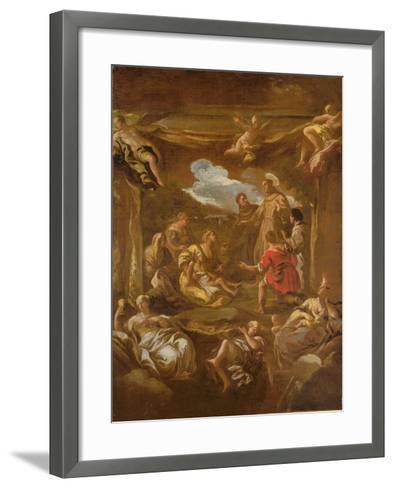 St. Anthony of Padua Healing a Young Man-Luca Giordano-Framed Art Print