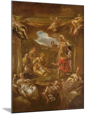 St. Anthony of Padua Healing a Young Man-Luca Giordano-Mounted Giclee Print