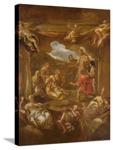 St. Anthony of Padua Healing a Young Man-Luca Giordano-Stretched Canvas Print