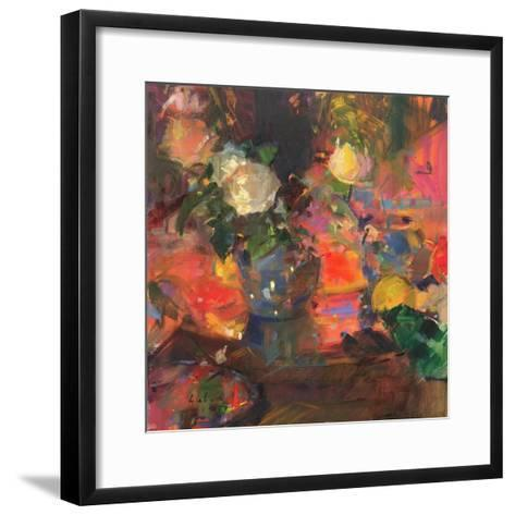 Oranges and Roses-Peter Graham-Framed Art Print