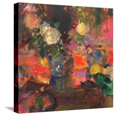 Oranges and Roses-Peter Graham-Stretched Canvas Print