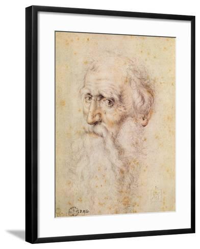 Portrait of a Bearded Old Man-Albrecht D?rer-Framed Art Print