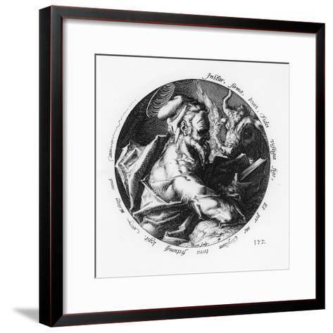 St. Luke-Hendrik Goltzius-Framed Art Print
