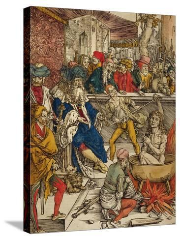 The Martyrdom of St. John, 1498-Albrecht D?rer-Stretched Canvas Print