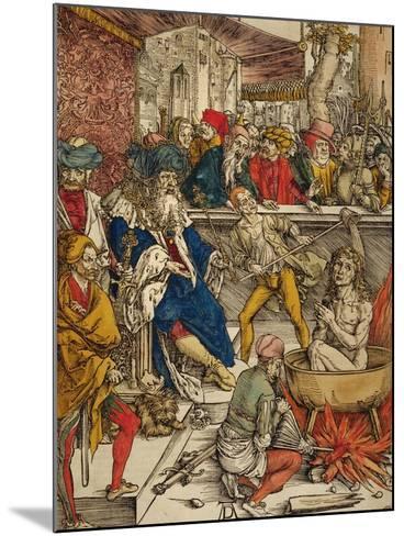 The Martyrdom of St. John, 1498-Albrecht D?rer-Mounted Giclee Print