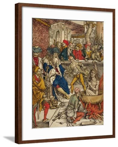 The Martyrdom of St. John, 1498-Albrecht D?rer-Framed Art Print