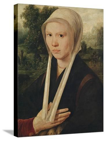 Portrait of a Young Woman, C.1530-Dirk Jacobsz-Stretched Canvas Print