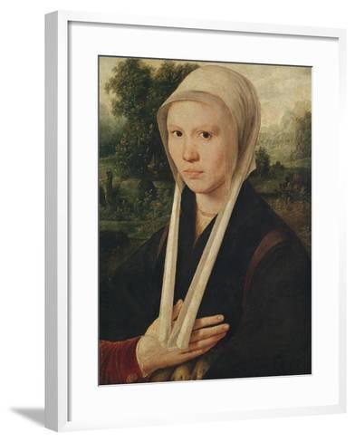 Portrait of a Young Woman, C.1530-Dirk Jacobsz-Framed Art Print
