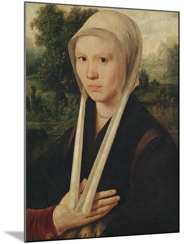 Portrait of a Young Woman, C.1530-Dirk Jacobsz-Mounted Giclee Print