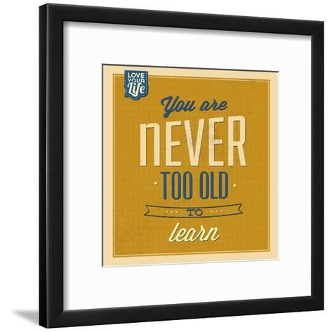 Never Too Old to Learn-Lorand Okos-Framed Art Print
