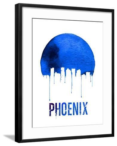 Phoenix Skyline Blue--Framed Art Print