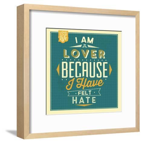 I'm a Lover-Lorand Okos-Framed Art Print